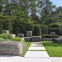 Trittplatten zur Feuerstelle Bayreuth, Gartengestaltung Bayreuth
