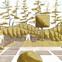 Trittplatten im Japangarten - Perspektive