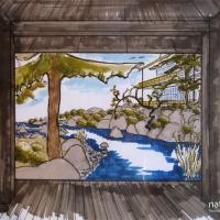 Teich im Japangarten - Perspektive