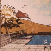 Schwimmteich Rosenheim Perspektive